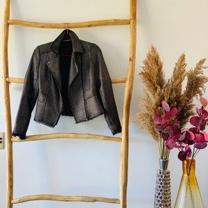 Banana Republic Metallic Tweed Moto Jacket